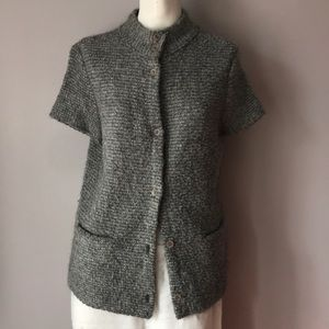 New Eileen Fisher Organic Wool Blend Cardigan